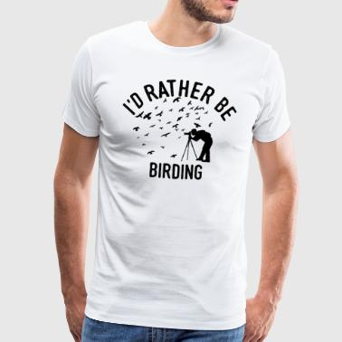 Vogelwaarneming vogelwaarneming shirt twitchen - Mannen Premium T-shirt