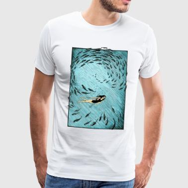 Under vandet - Herre premium T-shirt