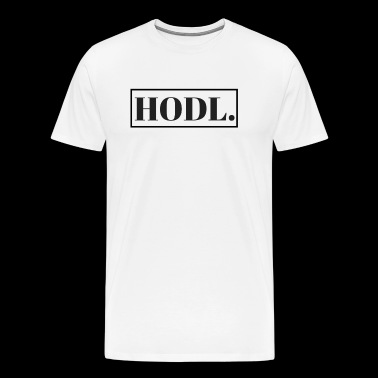 HODL Bitcoin - Cryptocurrency - Blockchain - Mannen Premium T-shirt