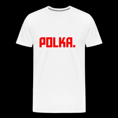 Polka. RED - Men's Premium T-Shirt