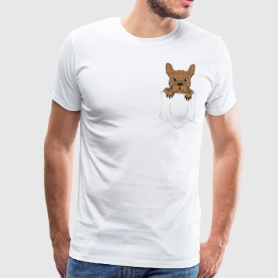 Frenchie French Bulldog Zak van de Gift - Mannen Premium T-shirt