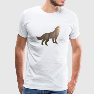 Wolf in the forest / gift idea - Men's Premium T-Shirt