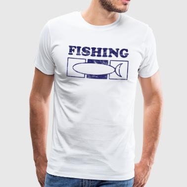 Fishing Fish Fishing Vintage - Men's Premium T-Shirt