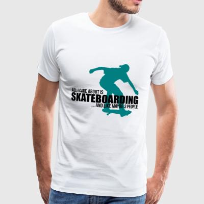Skateboarding enthusiasts - funny skaters - Men's Premium T-Shirt