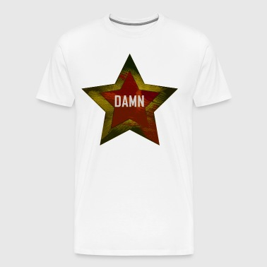 "A star with the word ""DAMN"" red-yellow - Men's Premium T-Shirt"