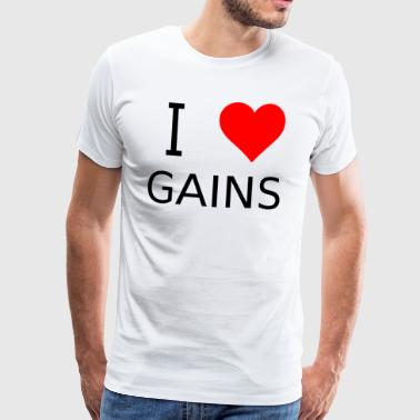 I love Gains - Männer Premium T-Shirt