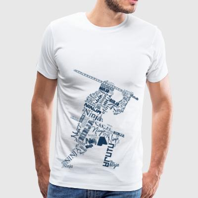 Typo Ninja Blue - Men's Premium T-Shirt