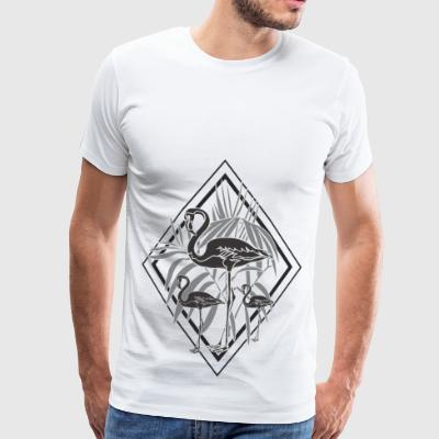 black flamingos - Men's Premium T-Shirt