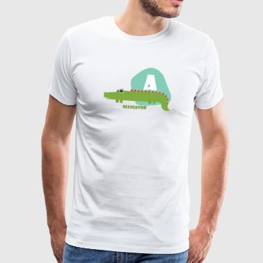 A for Alligator - Men's Premium T-Shirt