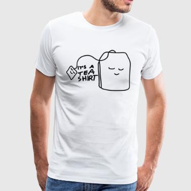 Tea shirt with smiling teabag - Men's Premium T-Shirt