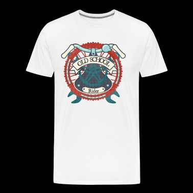 Old School Rider Shirt Retro Bicycle Shirt - Herre premium T-shirt