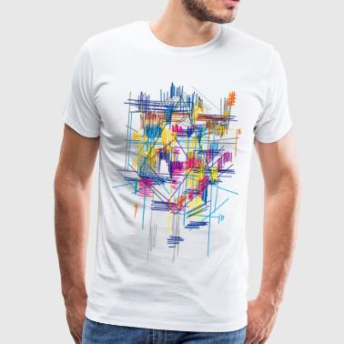 colorful scaffolding - Men's Premium T-Shirt