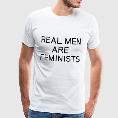 real_men_are_feminists - Männer Premium T-Shirt