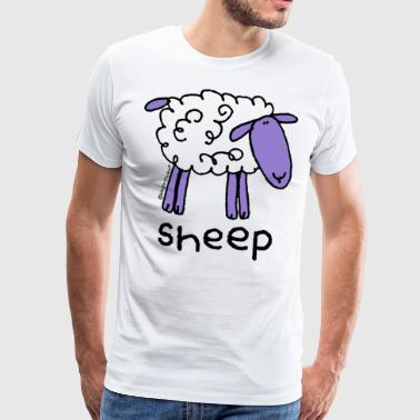 'sheep' - bang on the door - Men's Premium T-Shirt