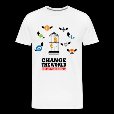 Change the World - cryptocurrency Bitcoin - Men's Premium T-Shirt