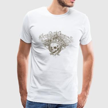 Freak Monarch Skull gotisk T-skjorte - Premium T-skjorte for menn