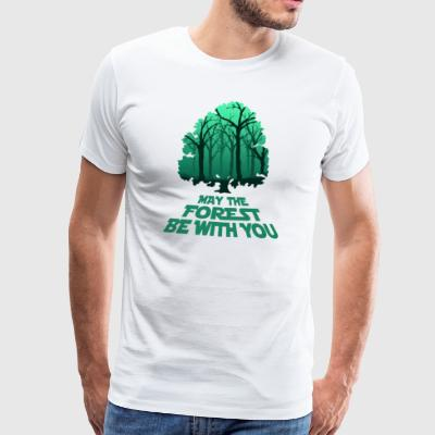 May The Forest Be With You - Design - Men's Premium T-Shirt