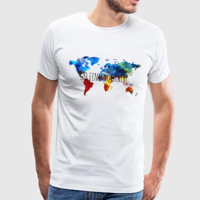 GO FIND YOURSELF Weltkarte - Männer Premium T-Shirt