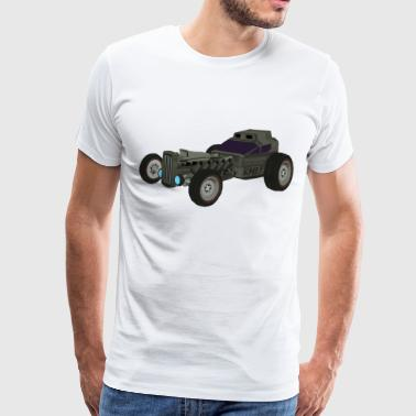 Hot Rod from the future v4 Kmlf style - T-shirt Premium Homme