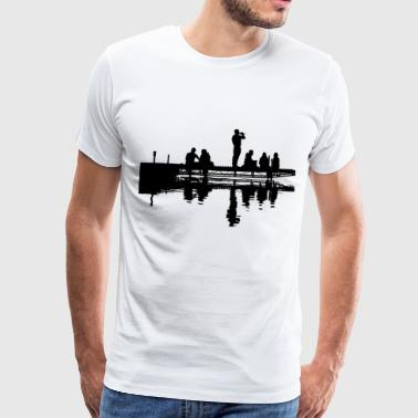 Man at the dock - Men's Premium T-Shirt