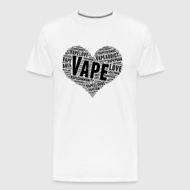 vape love - black - Men's Premium T-Shirt
