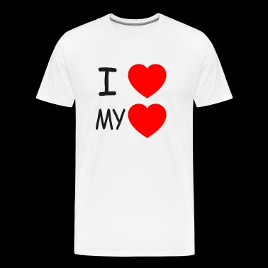 I love my heart - Männer Premium T-Shirt