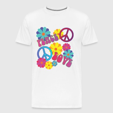 elsker fred hippie flower power - Herre premium T-shirt