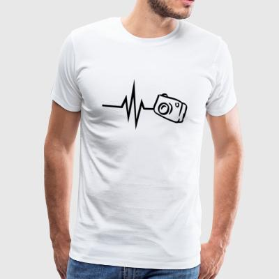 My heart beats for photography camera photographer - Men's Premium T-Shirt