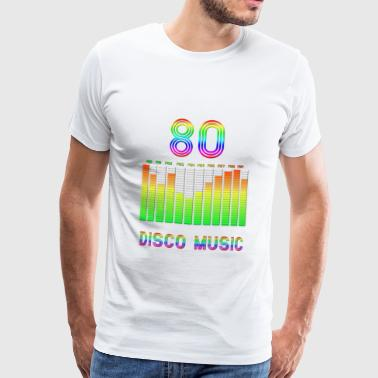 DISC MUSIC YEARS 80 - Men's Premium T-Shirt