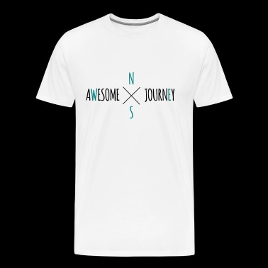 Awesome Journey - Travel (roadtrip) t-shirt - Premium-T-shirt herr