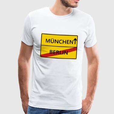 Minga Munich city sign gift gift idea - Men's Premium T-Shirt