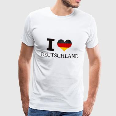 I LOVE GERMANY - Men's Premium T-Shirt