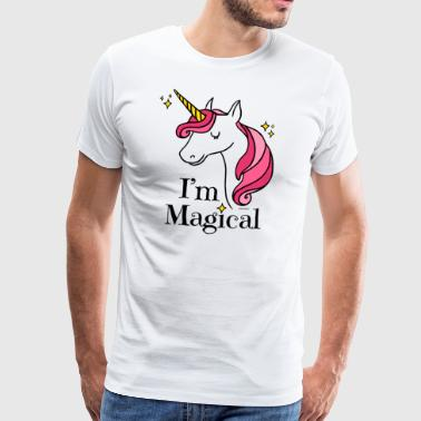 I'm Magical Unicorn T-shirt in White - Men's Premium T-Shirt