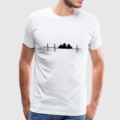 Mountain Shirt - Heartbeat - Mannen Premium T-shirt