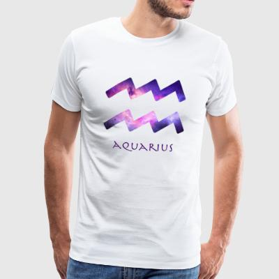 Aquarius - Premium-T-shirt herr