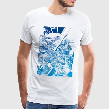 Livery Abstract Sea - Mannen Premium T-shirt
