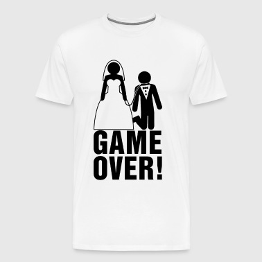 Bachelor party | Bridegroom | Game Over! - Men's Premium T-Shirt