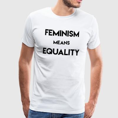 Feminism Means Equality - Men's Premium T-Shirt