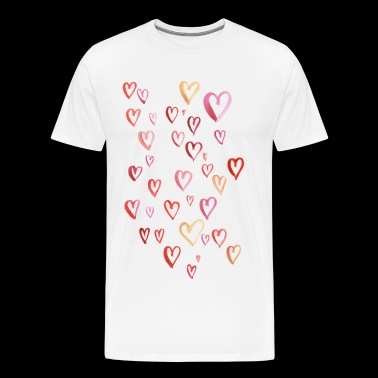 a hundred hearts - Men's Premium T-Shirt