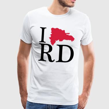 I love RD - I love Republica Dominicana - Men's Premium T-Shirt