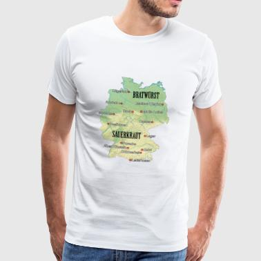 Germany Atlas - Mannen Premium T-shirt