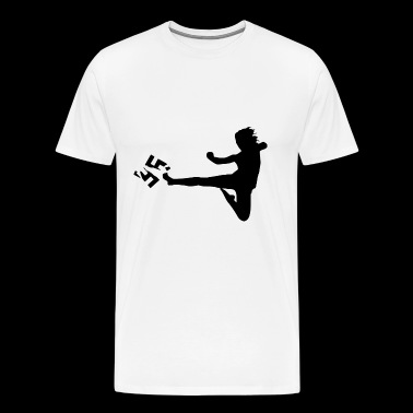 Anti racism kick martial arts - Men's Premium T-Shirt