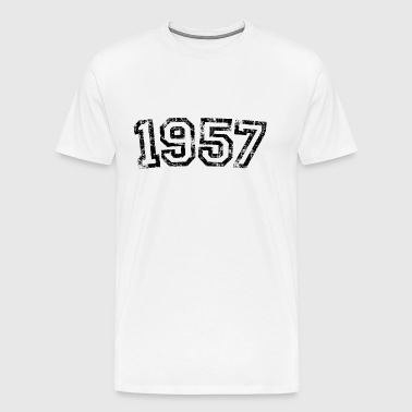 Year 1957 Birthday Vintage - Men's Premium T-Shirt