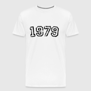 Year 1979 Birthday Design Vintage Anniversary - Men's Premium T-Shirt
