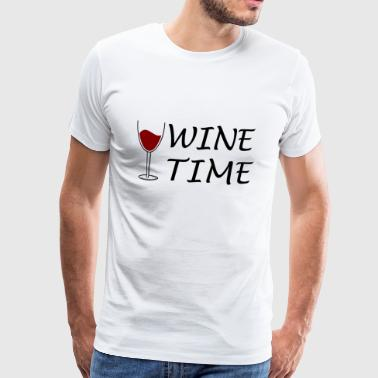 Wine Time Wine Wineglass Gift Gift Idea Time - Men's Premium T-Shirt