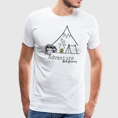 The Adventure begins - Men's Premium T-Shirt