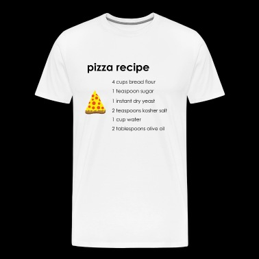 Pizza Recept - Mannen Premium T-shirt