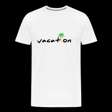 vacation lettering with palm tree black - Men's Premium T-Shirt