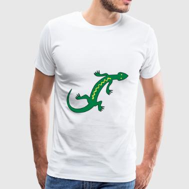 Lizard lizard gift idea animal nature forest - Men's Premium T-Shirt