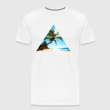 Beach, triangle, style, exceptional - Men's Premium T-Shirt